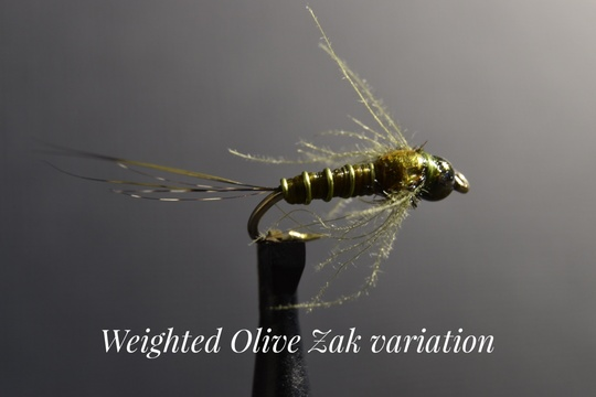 Weighted Olive Zak Variation by Alan Hobson, Wild Fly Fishing in the Karoo