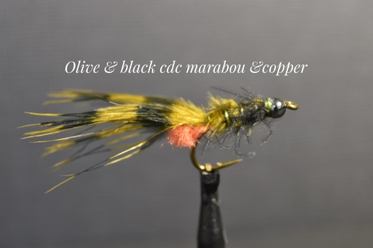 Olive & Black CDC Marabou & Copper by Alan Hobson, Wild Fly Fishing in the Karoo