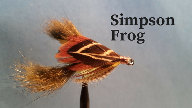Simpson Frog by Alan Hobson, Wild Fly Fishing in the Karoo