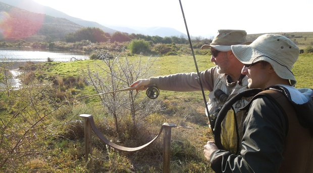 Guided fly fishing for trout in Somerset East, Eastern Cape, South Africa