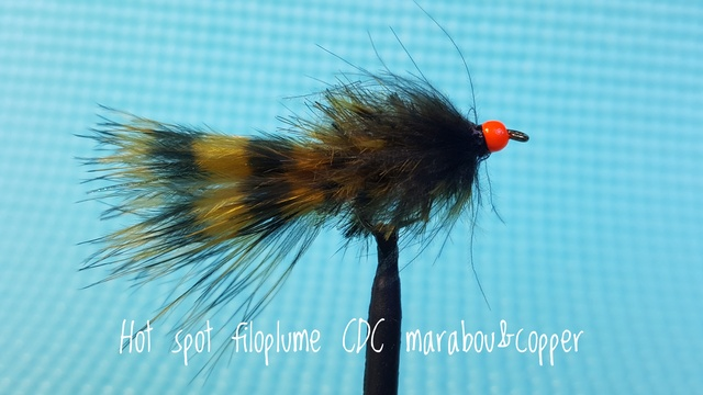 Hot Spot Filoplume CDC Marabou & Copper by Alan Hobson, Wild Fly Fishing in the Karoo