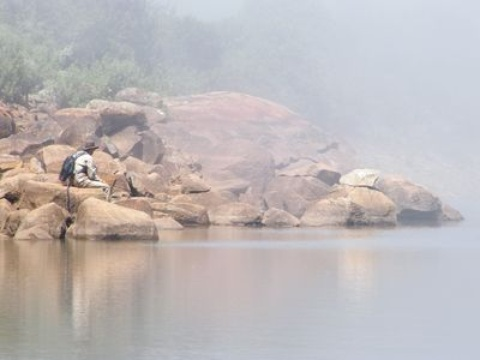 Mountain dam mist, Somerset East fly fishing